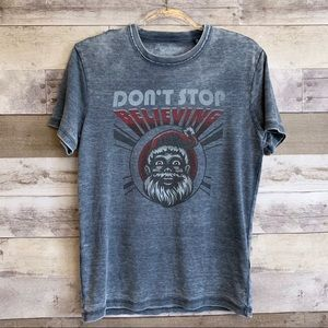 Lucky Brand Journey Santa Burn Out Graphic Tee